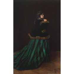 MONET. Camille con vestido verde