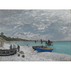 MONET. La playa de Sainte-Adresse
