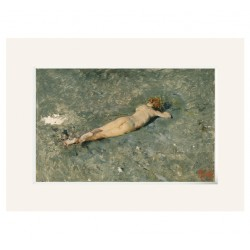 Passpartout Lienzo FORTUNY. Desnudo en la playa de Portici
