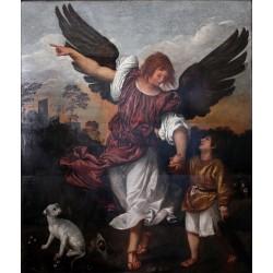 TIZIANO, Arcángel Rafael y Tobías