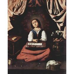 ZURBARÁN, Virgen niña en éxtasis