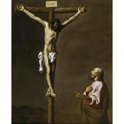ZURBARÁN, San Lucas como pintor, ante Cristo en la Cruz