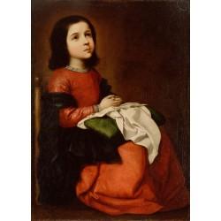 ZURBARÁN, La Virgen niña en oración