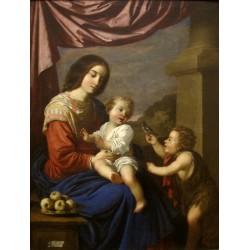 ZURBARÁN, Virgen y Niño con San Juan Bautista niño
