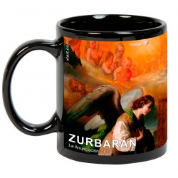 """ZURBARÁN. """"La Anunciación"""". Mug negro"""
