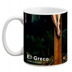 """EL GRECO, """"Cristo crucificado"""". Mug"""