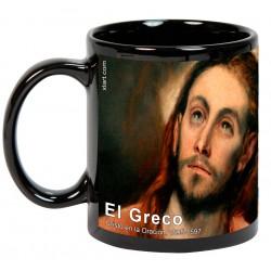 """EL GRECO, """"Cristo en la Oración"""". Mug negro"""