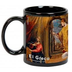 """EL GRECO, """"La anunciación"""". Mug negro"""