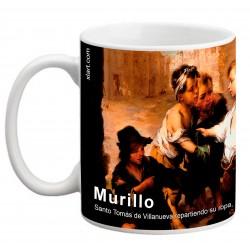 """MURILLO, """"Santo Tomás de Villanueva repartiendo su ropa"""". Mug"""