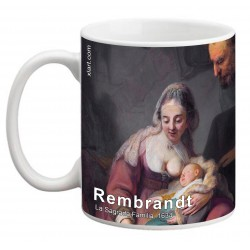 """REMBRANDT, """"La Sagrada Familia"""" Mug"""