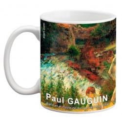 """Paul GAUGUIN. """"Baño en el molino del Bosque del Amor"""". Mug"""