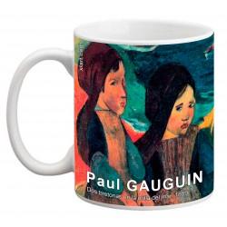 """Paul GAUGUIN. """"Dos bretonas en la orilla del mar"""". Mug"""
