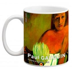 """Paul GAUGUIN. """"Femme à l'éventail"""". Mug"""
