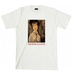 """T-Shirt MODIGLIANI, """"Mujer con corbata negra"""""""