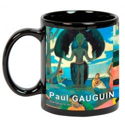 """Paul GAUGUIN. """"Mahana no Atua"""". Mug negro"""