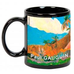"""Paul GAUGUIN. """"Montañas tahitianas"""". Mug negro"""