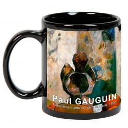 """Paul GAUGUIN. """"Naturaleza muerta con perfil de Laval"""". Mug negro"""