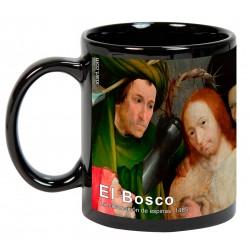 """EL BOSCO. """"La coronación de espinas"""". Mug negro"""