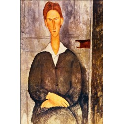 MODIGLIANI. Portrait of a Young Man. Lienzo algodón