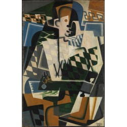 JUAN GRIS. Harlequin with a guitar.