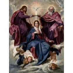 VELÁZQUEZ. Coronación de la Virgen.
