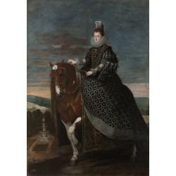 VELÁZQUEZ. La reina Margarita de Austria a caballo