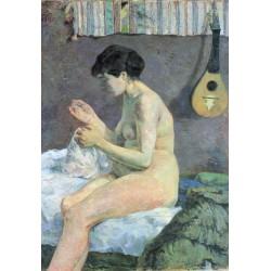 GAUGUIN. Estudio de un desnudo o Suzanne cosiendo