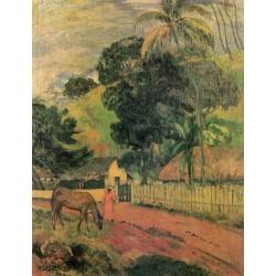 GAUGUIN. Le cheval sur le chemin