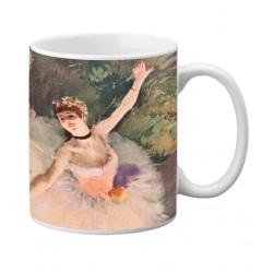 Mug Edgar DEGAS. Bailarina con ramo de flores