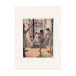 Passpartout Lienzo Edgar DEGAS. Tres bailarinas en una sala de ensayo