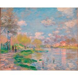 MONET. Spring by the Seine