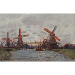 MONET. Mills at Westzijderveld near Zaandam
