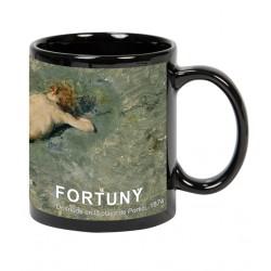 Mug negro FORTUNY. Desnudo en la playa de Portici
