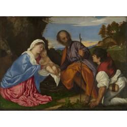 TIZIANO, La Sagrada Familia con un pastor