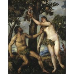TIZIANO, Adán y Eva
