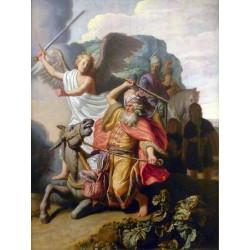 REMBRANDT, El profeta Balaam y su burra