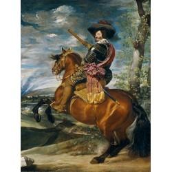 VELÁZQUEZ. El Conde-Duque de Olivares a caballo