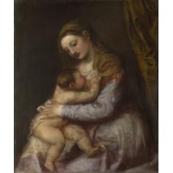 TIZIANO, La Virgen amamantando al Niño Jesús