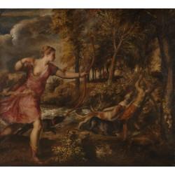 TIZIANO, La muerte de Acteón