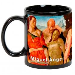 """Miguel Ángel, """"Santo Entierro"""" Mug negro"""