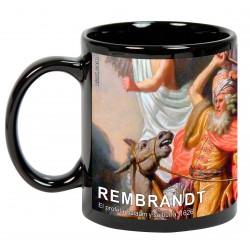 """REMBRANDT, """"El profeta Balaam y su burra"""". Mug negro"""
