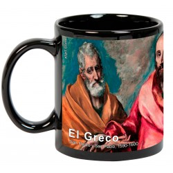 """EL GRECO, """"San Pedro y San Pablo"""". Mug negro"""