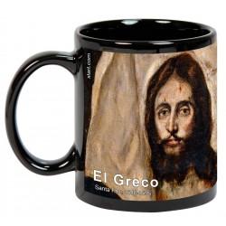 "EL GRECO, ""Santa Faz"". Mug negro"