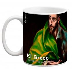 """EL GRECO, """"Santiago El Mayor"""". Mug"""