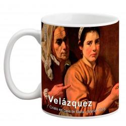 """VELÁZQUEZ, """"Cristo en casa de Marta y María"""", Mug"""