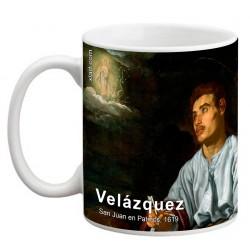 """VELÁZQUEZ, """"San Juan en Patmos"""", Mug"""