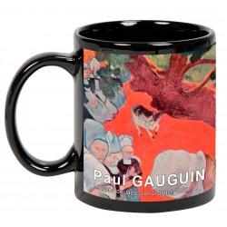 """GAUGUIN, """"La lucha de Jacob con el ángel"""". Mug negro"""