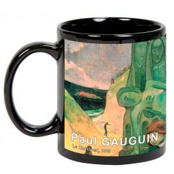 """GAUGUIN, """"Le Christ vert"""". Mug negro"""