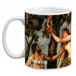 """TIZIANO, """"Adán y Eva"""" Mug"""