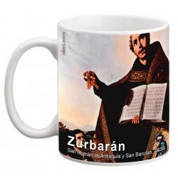 """ZURBARÁN. """"San Román de Antioquía y San Barulas"""". Mug"""
